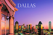 Dallas Framed Prints - Dallas at Dusk Framed Print by David Perry Lawrence