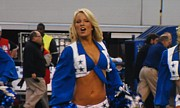 Pro Football Cheerleaders Prints - Dallas Cowboys Cheerleader Print by Donna Wilson
