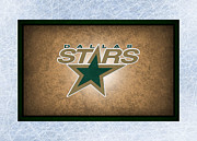 Puck Framed Prints - Dallas Stars Framed Print by Joe Hamilton