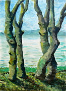 Iconic Paintings - Dancing Trees by Errol  Jameson
