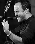 Jennifer Rondinelli Reilly Framed Prints - Dave Matthews on Guitar 9 Framed Print by The  Vault - Jennifer Rondinelli Reilly
