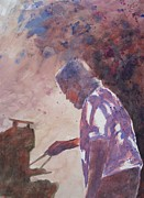 Portraits Paintings - Daves Barbeque by John  Svenson