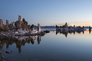 Ansel Adams Framed Prints - Dawn on Mono Lake Framed Print by Sandra Bronstein