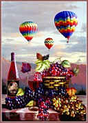 Still-life With Wine Posters - Dawns Early Ride Poster by Ronald Chambers
