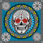 Modern Pop Art Posters - Day of the Dead Poster by Gary Grayson