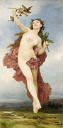 William-adolphe (1825-1905) Paintings - Day by William-Adolphe Bouguereau