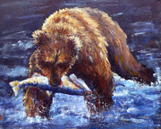 National Parks Paintings - Days Catch by Carolyn Jarvis