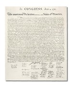 Declaration Of Independence Digital Art Prints - Declaration of Independence Print by Ron Hedges