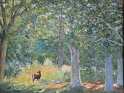 Betty Mcglamery Art - Deer In The Clearing by Betty McGlamery