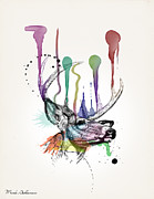 Geek Posters - Deer Poster by Mark Ashkenazi