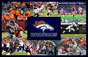 Football Helmets Posters - Denver Broncos Poster by Joe Hamilton