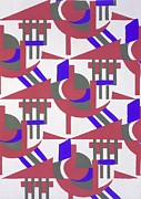 Patterned Drawings Metal Prints - Design from Nouvelles Compositions Decoratives Metal Print by Serge Gladky