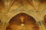 Royal Chapel Photos - Detail of Interior of Gothic Revival Chapel. Streets of Dublin.Gothic Collection by Jenny Rainbow