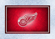 Puck Posters - Detroit Red Wings Poster by Joe Hamilton