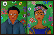 Mexicano Painting Posters - Diego And Frida Poster by Pristine Cartera Turkus