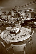 Table Cloth Metal Prints - Diner on Route 66 Metal Print by Frank Romeo