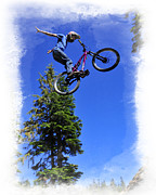 Fat Tire Prints - Dirt Jumping Print by Michael Seemann