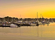 Delightful Sunset Posters - Dock of the Bay Poster by Robert Harmon