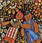 Couple Mixed Media - Doll Couple 4 by Sarah Loft