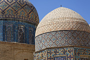 Domes Prints - Domes at the Avenue of Mausoleums in Samarkand Uzbekistan Print by Robert Preston