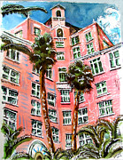 Miel Framed Prints - Don CeSar Hotel Framed Print by Douglas Durand