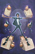 Michael Jackson Painting Originals - Dont Stop Till You Get Enough by Tu-Kwon Thomas