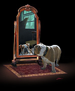 English Bulldog Paintings - Double Trouble by Harold Shull