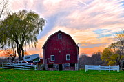 Morning Charm Prints - Down on the Farm Print by Robert Harmon