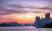 New York City Skyline Art - Down River by JC Findley