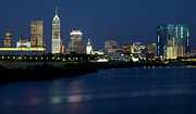 Indiana Rivers Metal Prints - Downtown Indianapolis Indiana Metal Print by Anthony Totah