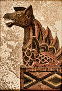 Old Objects Digital Art Posters - Dragon Poster by Jeff  Gettis