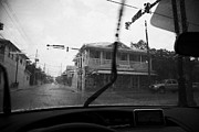 Heavy Weather Prints - Driving Through Heavy Storm Weather In Key West Florida Usa Print by Joe Fox