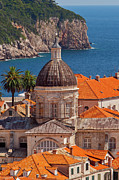 Tiled Framed Prints - Dubrovnik Croatia Framed Print by Brian Jannsen