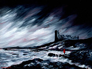 J.p. Painting Prints - Dunure Red Coat Print by J P McLaughlin
