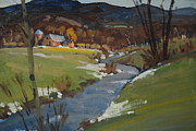 Berkshire Hills Paintings - Early Spring by Len Stomski