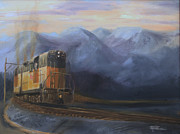 Diesel Locomotives Prints - East of the Belt Range Print by Christopher Jenkins