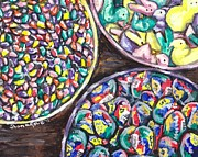 Bowls Paintings - Easter Candy by Shana Rowe