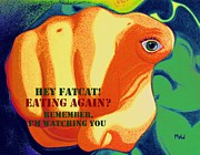 Thoughts Art - Eating Again by Leana De Villiers