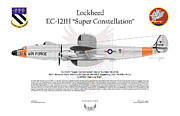 Lockheed Aircraft Framed Prints - EC-121H Super Constellation Framed Print by Arthur Eggers