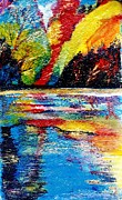 Reflections Mixed Media Originals - Echo Lake Revisited by Anne-Elizabeth Whiteway