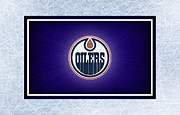 Puck Prints - Edmonton Oilers Print by Joe Hamilton