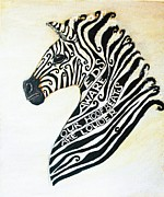 Mascot Painting Metal Prints - EDS Aware Zebra Metal Print by Cherish Fletcher