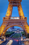 Eifel-tower Posters - Eiffel tower at Twilight Poster by Brian Jannsen
