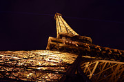 Ground Digital Art Prints - Eiffel Tower Paris France Print by Patricia Awapara