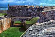 Puerto Rico Digital Art Posters - El Morro Fortress Old San Juan Poster by Thomas R Fletcher