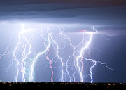 Lightning Bolt Pictures Prints - Electric Skies Print by James Bo Insogna