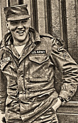 Elvis Presley Art - Elvis Presley in the U.S. Army by Errol Wilson