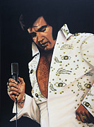 Release Painting Framed Prints - Elvis Presley Framed Print by Paul Meijering