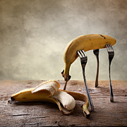 Yellow Bananas Prints - Encounter Print by Nailia Schwarz