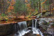 Southern New England Framed Prints - Enders Falls Framed Print by Bill  Wakeley